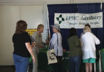 People browse booths