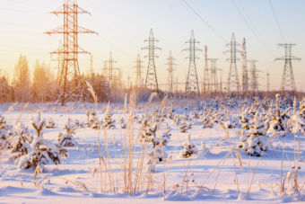 Snowy power lines