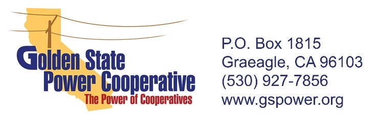 Golden State Power Cooperative, The Power of Cooperatives, PO Box 1815, Graeagle, CA 96103, 530-927-7856, www.gspower.org