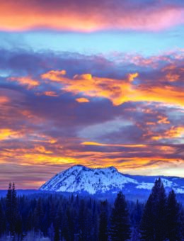 Colorful sunset over Penman Peak