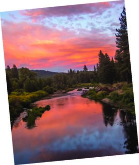 Sunset Sky and Reflection on Middle Fork of Feather River