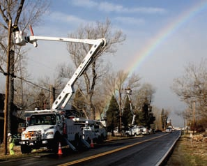 Sometimes crews get to work with rainbows
