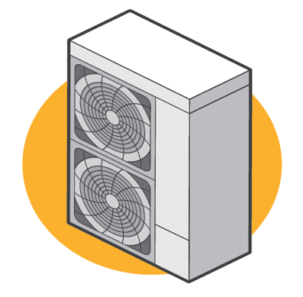 air source heat pump illustration