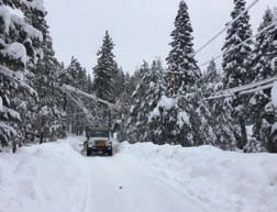 PSREC crews repair lines following a winter storm.