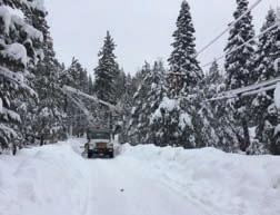 PSREC crews repair lines following a winter storm.