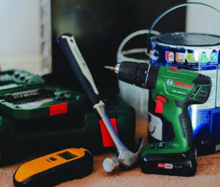 tools on floor