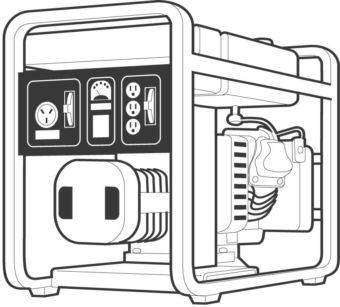 Illustration of an electric generator
