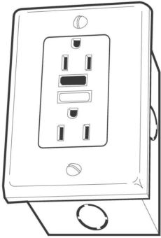 Illustration of GFCI electrical outlet